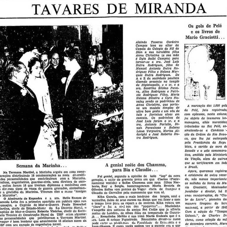 reprodução de página antiga de jornal