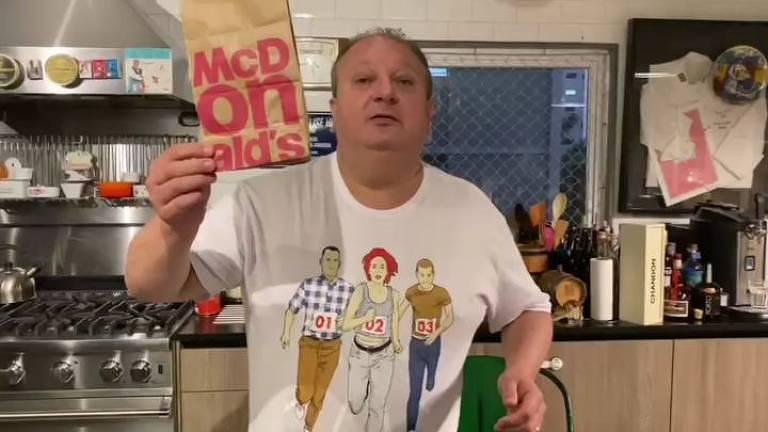 Erick Jacquin protesta contra Mc Donald's