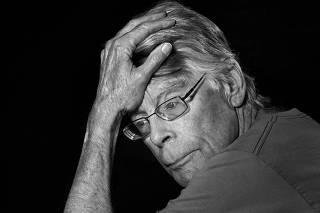 The author Stephen King in Bridgton, Maine, on Friday, May 28, 2021. (Philip Montgomery/The New York Times)
