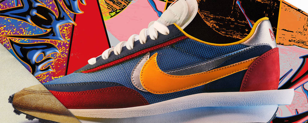 Nike versus Sacai VaporWaffle em toda a glória de confronto de cores