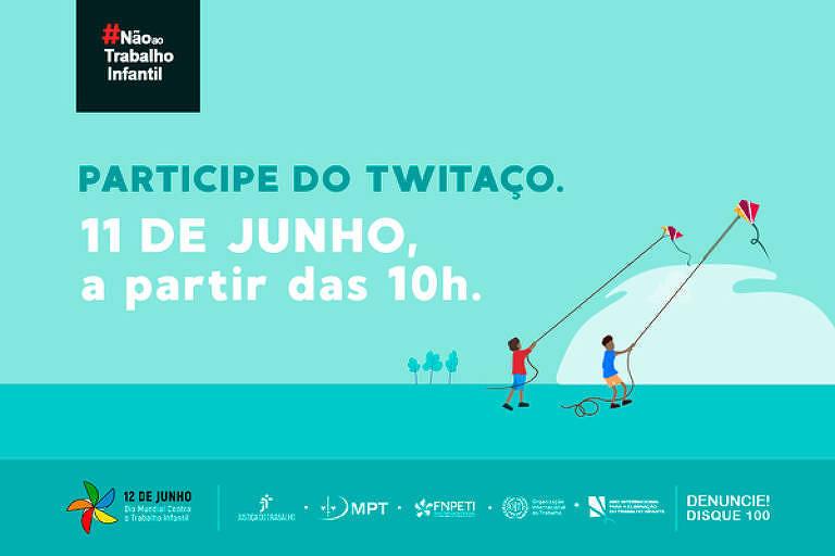 TST organiza tuitaço contra o trabalho infantil