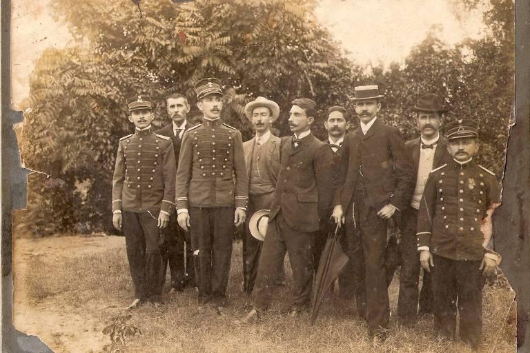 Euclides da Cunha com outros membros da Comissão Mista Brasileiro- -Peruana de Reconhecimento do Alto Purus