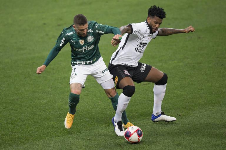 Palmeiras e Corinthians se encontram após fracassos na Copa do Brasil