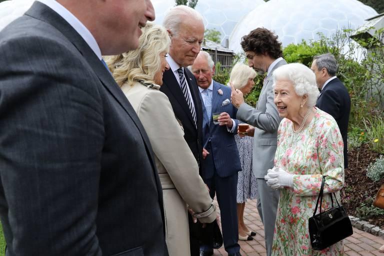 Líderes do G7 encontram a rainha Elizabeth 2ª