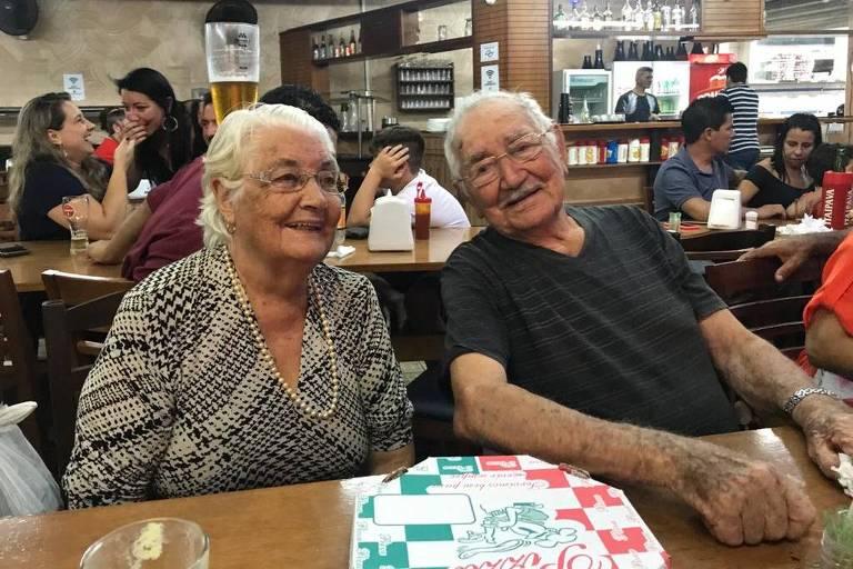 Moises Tiburtino de Souza (1926-2021) e a esposa Ignez Amaral de Souza