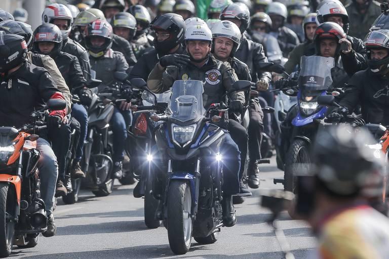 Motociata com Bolsonaro em SP