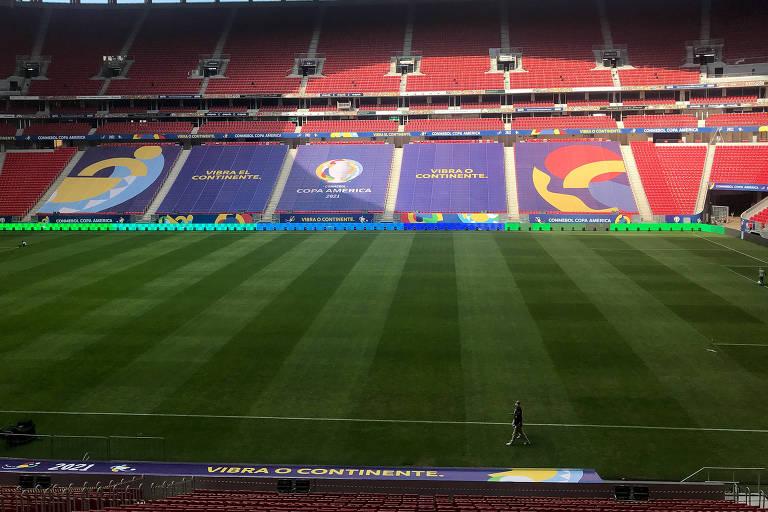 Estádio Mané Garrincha, em Brasília, receberá o jogo entre Brasil e Venezuela neste domingo