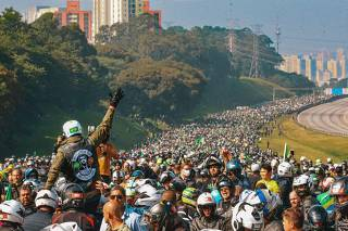 Bolsonaro participa de Motociata em SP