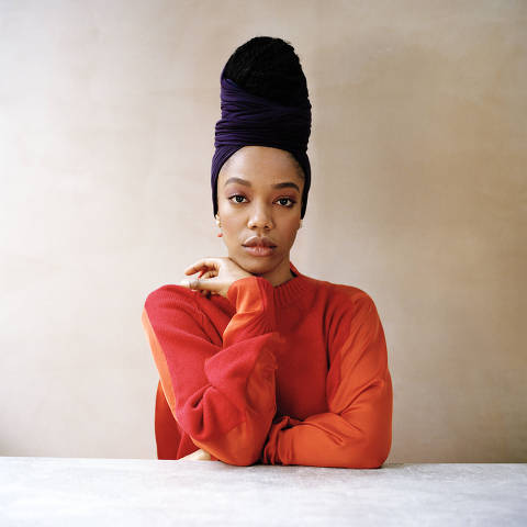 The actress Naomi Ackie in London, May 8, 2021. The British actor does most of the dramatic heavy lifting in the new season of Aziz Ansari?s Netflix series, most notably in a raw episode about fertility struggles. (Adama Jalloh/The New York Times) ORG XMIT: XNYT44