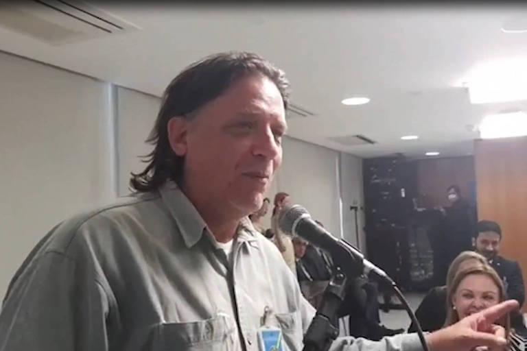 O virologista Paolo Zanotto durante reunião com o presidente Jair Bolsonaro em setembro do ano passado -