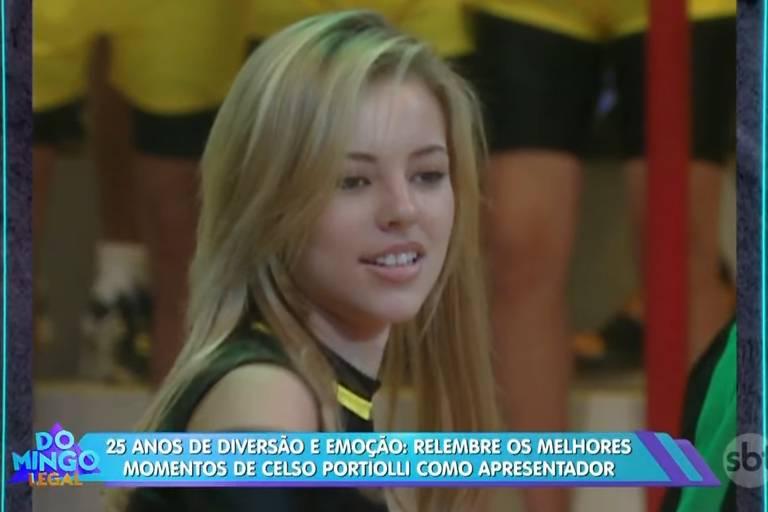 Celso Portiolli relembra Paolla Oliveira como sua assistente de palco no SBT