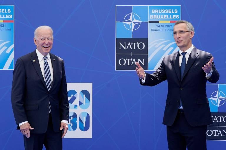 Biden faz Otan considerar China risco à segurança do Ocidente