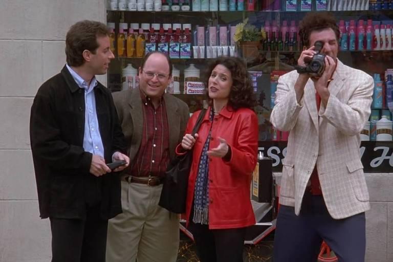 Cena do último episódio da série Seinfeld