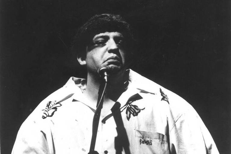 O humorista Claudio Besserman Vianna, o Bussunda, em retrato de 1989