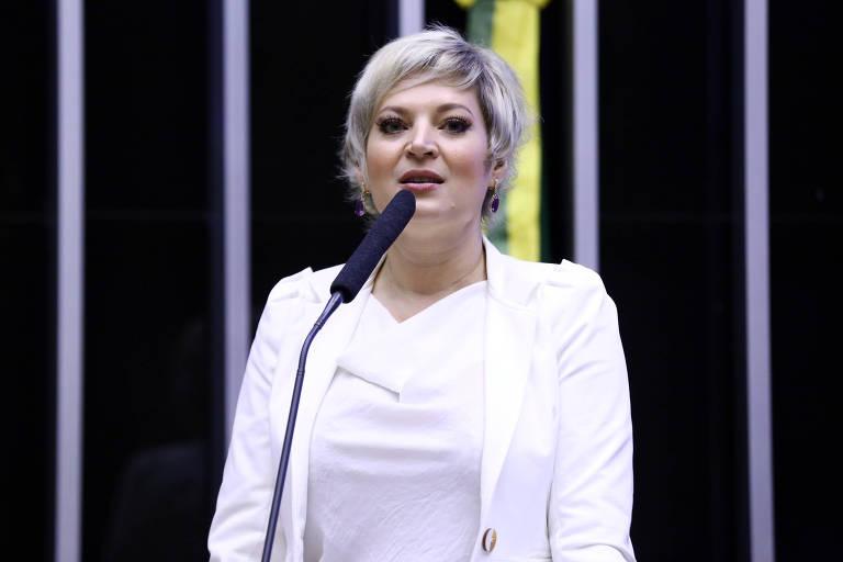 A deputada federal Joice Hasselmann (SP) na tribuna da Câmara