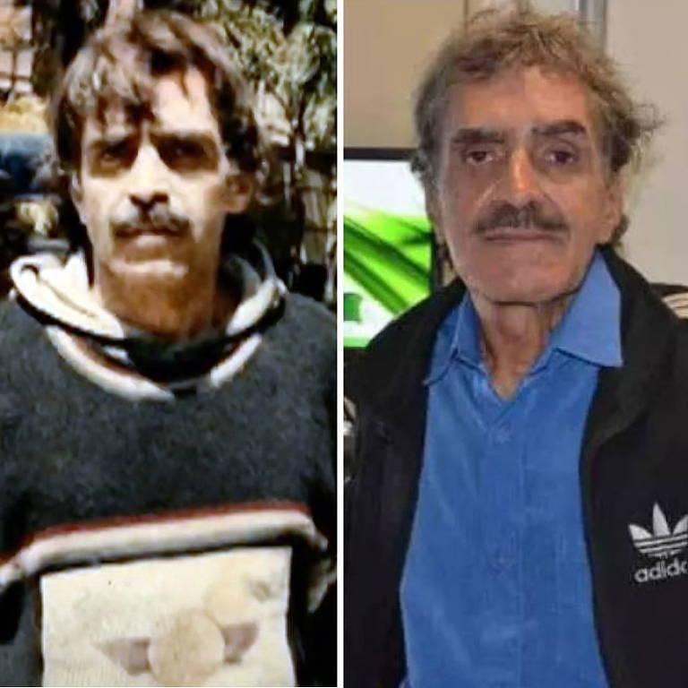 Eugênio Fiuza na época em que estava preso e, depois, já em liberdade