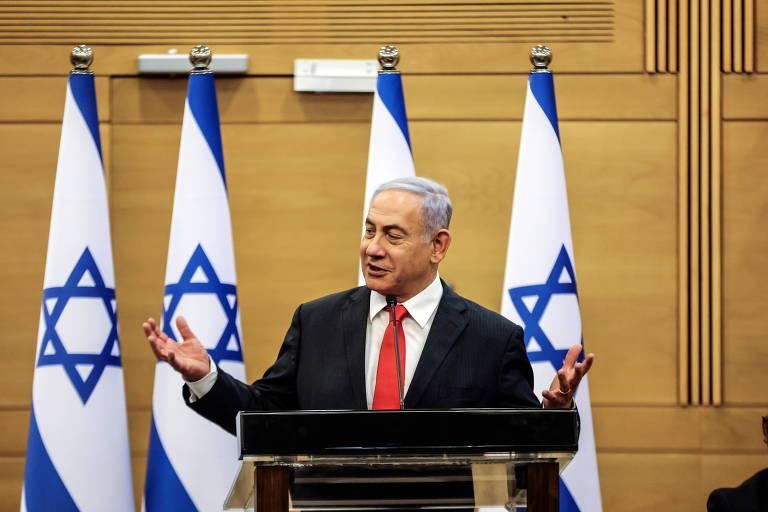 Em primeiro dia de novo governo em Israel, Netanyahu se recusa a apertar a mão do sucessor