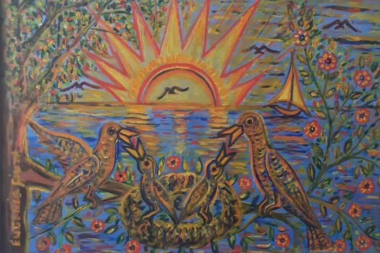 Quadro que Eugênio Fiuza pintou e deu de presente à defensora pública