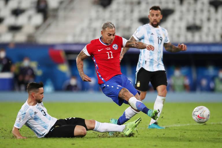 Argentina x Chile duelam na Copa América