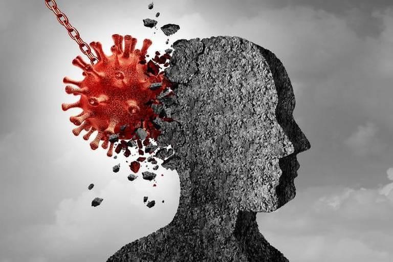 Sintomas psicológicos e neurológicos são comuns em pessoas que tiveram Covid-19