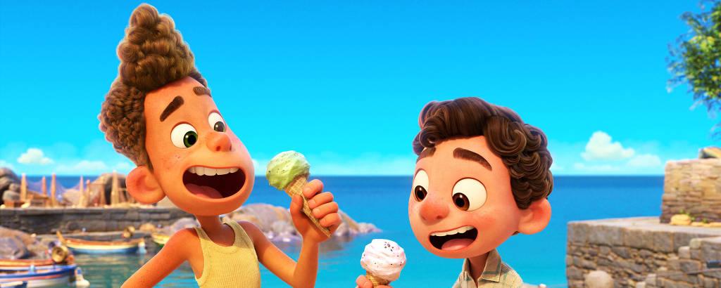 Imagem da animação Luca da Disney Pixar