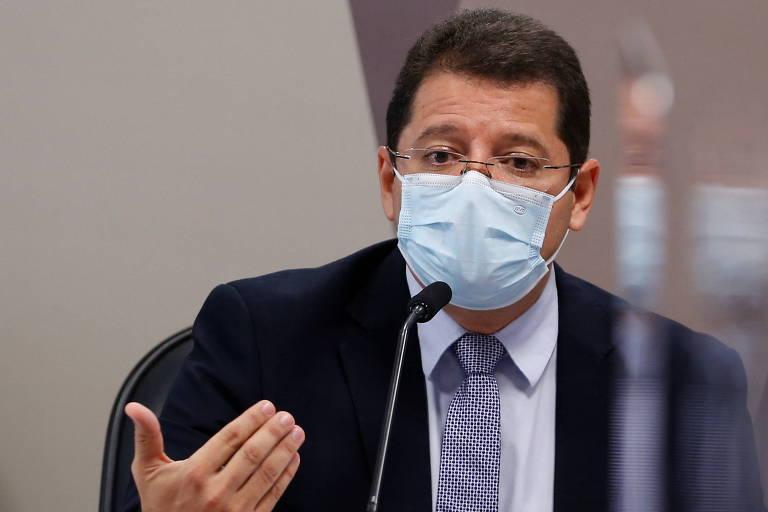 Marcellus Campêlo, ex-secretário de Saúde do Amazonas, fala à CPI da Covid no Senado