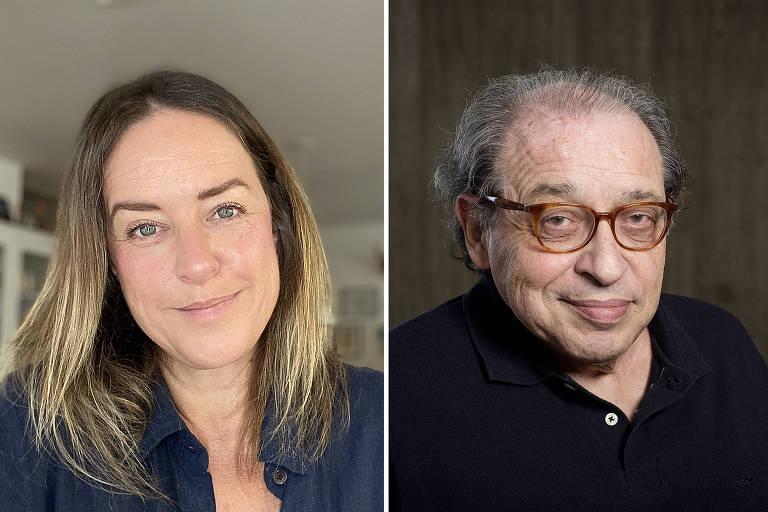 Os colunistas da Folha Mariliz Pereira Jorge e Ruy Castro