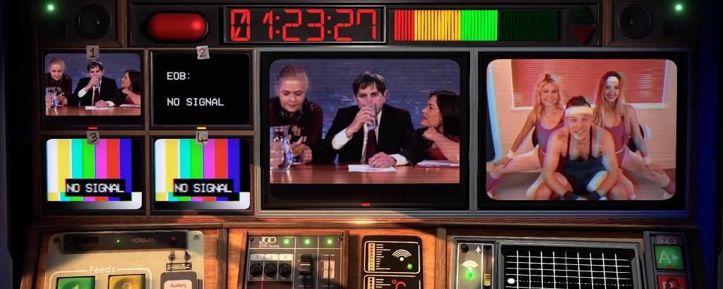 Game 'Not For Broadcast', que usa atores reais em vez de gráfico