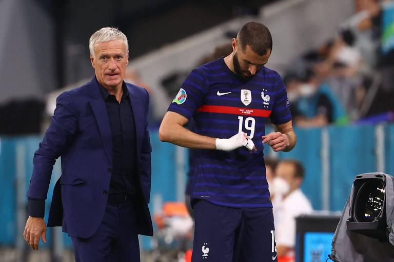 Benzema reestreou pela França em uma competição oficial nesta terça, contra a Alemanha