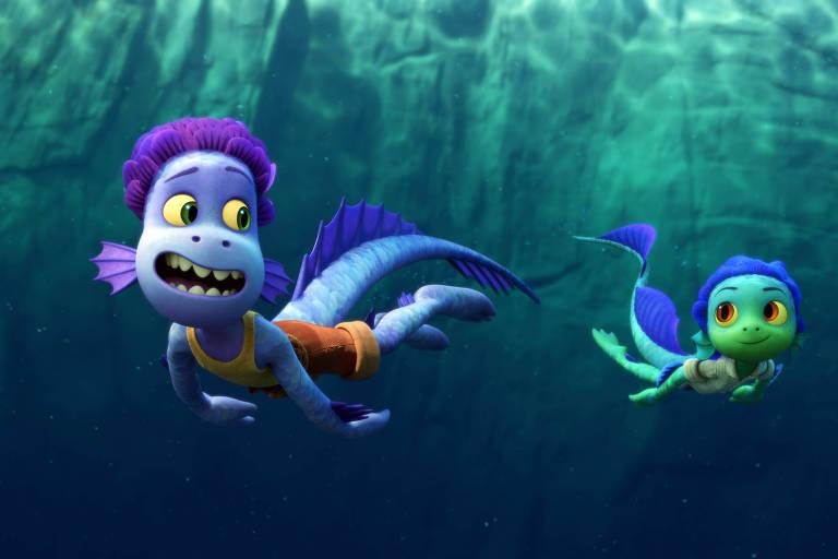 """Cena da animação """"Luca"""", da Pixar, dirigida por Enrico Casarosa"""