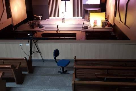 RIO DE JANEIRO, RJ  -  Igreja Batista de Jacarepaguá na pandemia. (Foto:Divulgação)   ***  FOTO EM BAIXA RESOLUÇÃO  ***