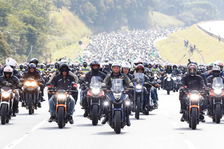 Motociata com Bolsonaro em São Paulo