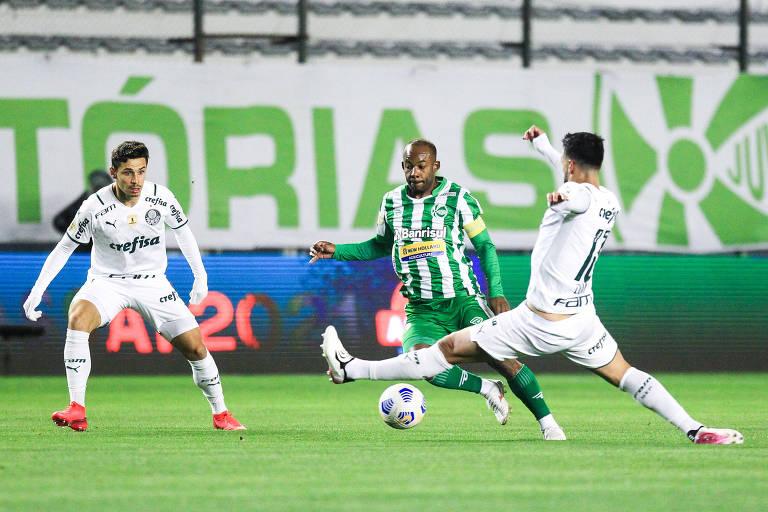 Deyverson retorna ao time titular com gol em vitória do Palmeiras contra o Juventude
