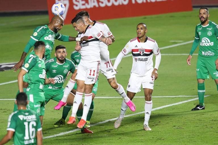 Tricolor empata a Chapecoense e mantém jejum de vitórias no Nacional