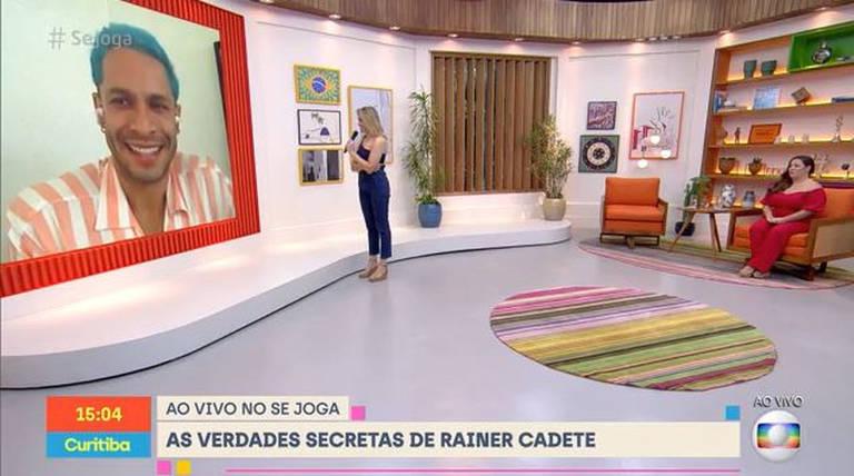 Rainer Cadete conversou com Tati Machado e Fernanda Gentil