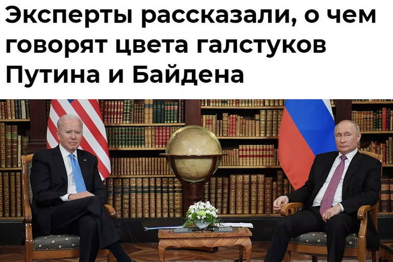 Agência russa critica escolha de gravata de Biden como 'infantil'
