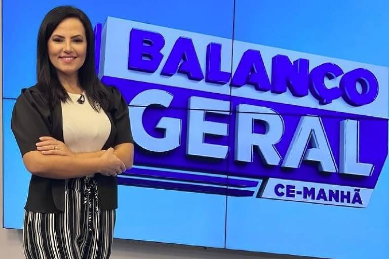 A jornalista Luciana Ribeiro do Balanço Geral Ceará (Record)