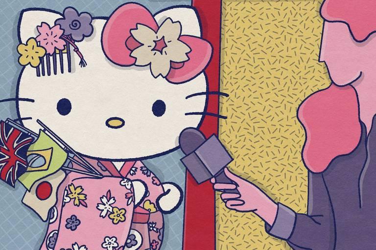 'Sou muito amiga do povo japonês', diz Hello Kitty em entrevista exclusiva