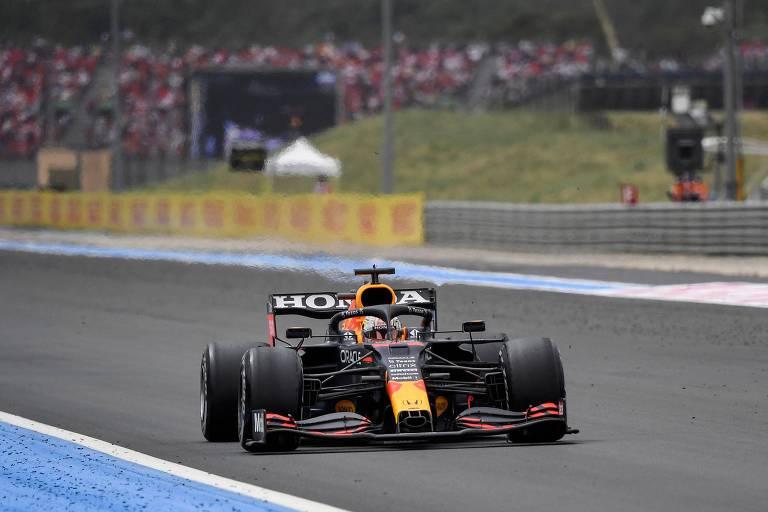 Max Verstappen durante o GP da França