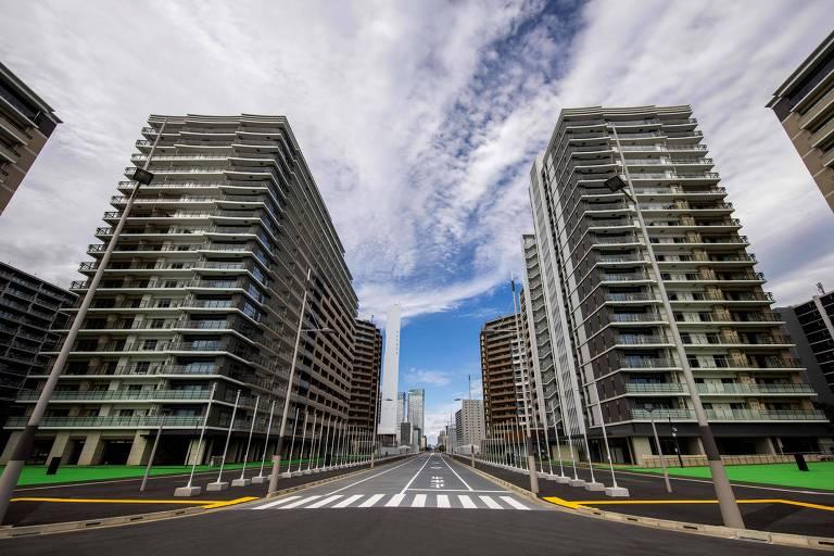 Abertura da Vila Olímpica em Tóquio