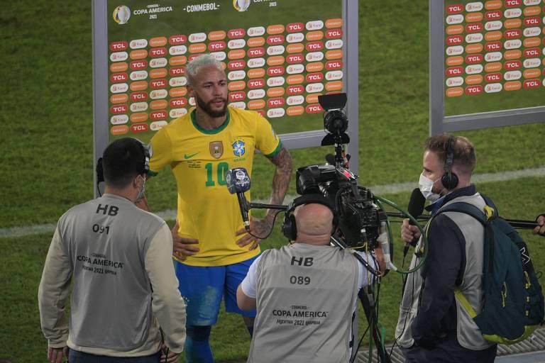 O pranto de Neymar