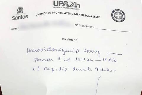 Médica receita remédios sem eficácia comprovada para paciente com suspeita de Covid