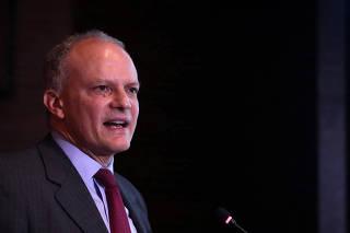 FILE PHOTO: Alejandro Werner of the IMF speaks in Bogota