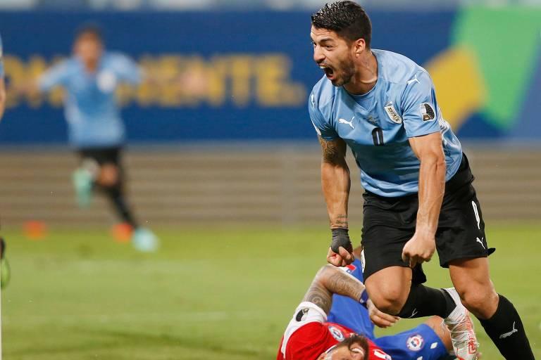 Suárez evita derrota para o Chile e dá primeiro ponto ao Uruguai na Copa América