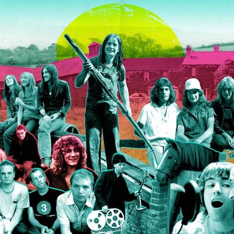 Pôster do documentário 'Rockfield - A Fazenda do Rock', exibido no festival In-Edit