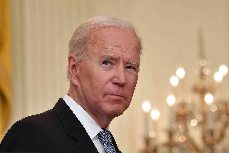 O presidente dos EUA, Joe Biden, durante evento na Casa Branca