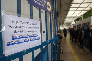 UBSs de São Paulo estão sem vacina contra a Covid-19