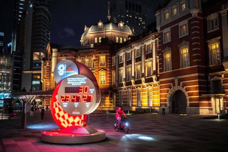Contagem regressiva em relógio de Tóquio mostra a marca de 30 dias para os Jogos Olímpicos