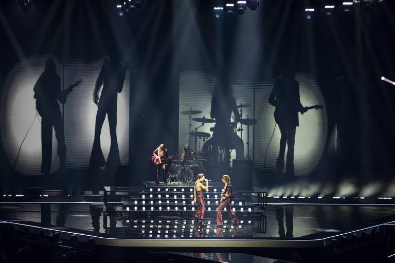 A banda italiana Måneskin no Eurovision