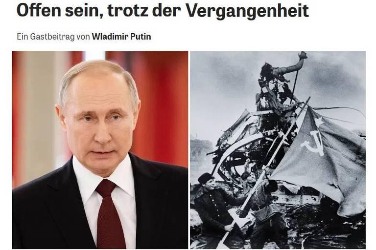 Putin cobra Europa nos 80 anos da 'guerra de aniquilação'